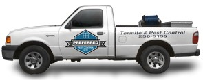 Preferred Pest Control company truck used for pest management